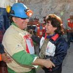 Image for Autism Sunday 2011- Chilean Miner Jose Henriquez presented with autism ribbon